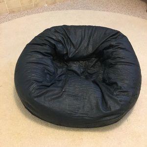 Genuine Leather Bean Bag Chair Covet